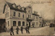 13965 AK König Friedrich August v. Sachsen zur Auerhahn Jagd Oybin Gasthof 1917