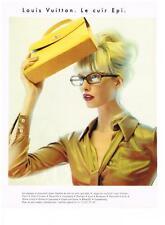 PUBLICITE ADVERTISING 1980 LOUIS VUITTON    haute couture  accessoires