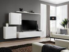 Shift 5 - living room  white entertainment center / entertainment center cabinet