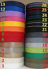 Gurtband 4 Meter oder 12 Meter, 50mm breit, 1,4 mm dick in 26 Farben