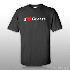 I Love Greece T-Shirt Tee Shirt Gildan S M L XL 2XL 3XL Cotton