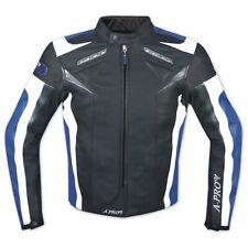 Moto chaqueta Piel del deporte chaleco protectores extraíbles transpirable azul