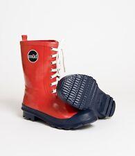 Müd diseñador Wellington Boots-Rojo Tobillo Botines-De Goma