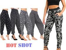 Plus Size Women Ladies Paisley Print Cuffed Bottom Ali-Baba Hareem Trouser Pant>