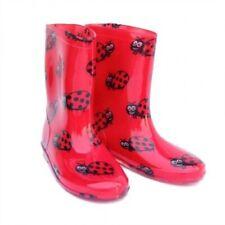 I-Smalls Kids per Bambini Ragazzi Ragazze Coccinella Divertente Fashion Stivali Wellington Welly