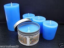 Handmade Invigorating medieval aromatherapy candle votive, pillar or container