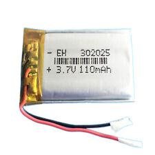 BATERÍA 302025 LiPo 3.7V 110mAh para teléfono, portátil, vídeo, mp3, mp4, luz