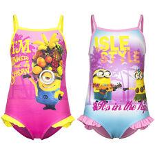 maillot de bain filles MINIONS ROSE + fuchsia maillot de bain 3 - 8 ans Hawaii