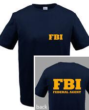 FBI T-SHIRT - BLACK or NAVY youth small thru adult 5x