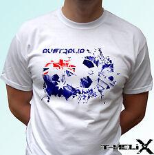 Australia football - white t shirt top flag soccer design mens womens kids baby