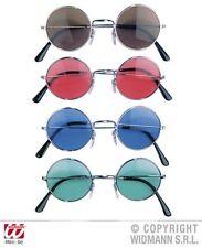 Lennon Gafas , década de los 70 Redondo Retro Hippie marrón, rosa, azul, Verde