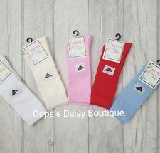 Baby Boys Girls Spanish Style Plain Knee High Socks / Newborn-4yrs