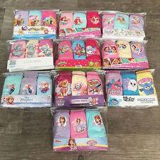 3 X Pares Niñas Niños Bebé Personaje de Disney Ropa Interior Bragas Calzoncillos Edad 1 - 8