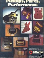DIMARZIO PINUP AD vtg guitar parts pickups performance