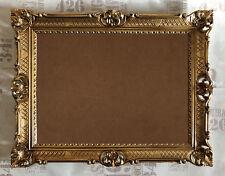 XXL HAUT AVEC VITRE ART NOUVEAU ANTIQUE BAROQUE CADRE PHOTO 90x70 cm