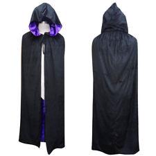 Purple Vampire Assassin Velvet Hooded Cloak Cosplay Costume Fancy Dress HC-060