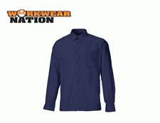Dickies Oxford Weave Camisa De Manga Larga, Azul Marino