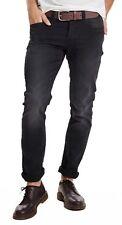 Seule & Sons Jeans Homme Neuf Loom Slim Étroit Jambe Jogging Denim Pantalon noir délavé