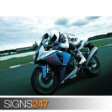 SUZUKI GSX R1000 azione (1585) MOTO POSTER-Poster Arte Stampa A1 A2 A3 A4