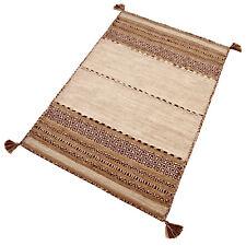 Teppich Baumwolle Braun Natur Beige Streifen Muster robust strapazierfähig