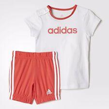 Ragazze Bambino ADIDAS Estate Easy Set T-shirt E Pantaloncini Set Completo Bambino Kids