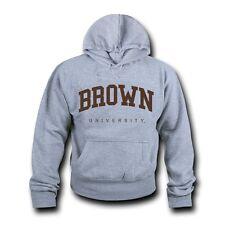 NCAA Brown University Hoodie Sweatshirt Game Day Fleece Pullover Heather Grey
