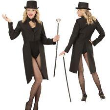 Showfrack Showgirl  DAMEN FRACK schwarz - NEU Damen Kostüm Karneval Fasching
