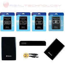 """HARD DISK ESTERNO VERBATIM 2,5"""" 500GB-750GB-1TB-2TB  USB 2.0/3.0 BLACK"""