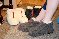 Women`s/Ladie`s Pure Sheep Wool Slippers Boots Sheepskin Sizes UK 3,4,5,6,7,8 BM