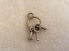 Anello in miniatura mazzo di chiavi 20mm per un 1:12th scala casa delle bambole Castello VECCHIO Regno Unito