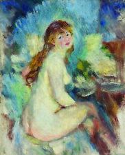 PIERRE-AUGUSTE RENOIR Buste de femme nue naked WOMAN white skin long hair NEW!