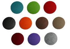 6 FILZ UNTERSETZER versch, Farben HOBBYFUN  rund 11 cm Durchmesser