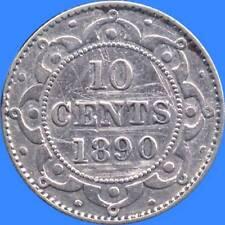 1890 Newfoundland 10 Cent Silver Coin (2.36 Grams .925 Silver)