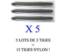 Lot de 5 jeux = 15 tiges flechettes darts shaft NYLON  (medium: 4,7cm)