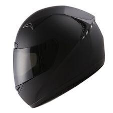 1STORM MOTORCYCLE FULL FACE HELMET BOOSTER MATT BLACK + ONE EXTRA CLEAR SHIELD
