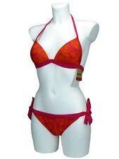 REEBOK Push Up Bikini Oberteil Bikini Hose Top String Bottom Größen XS S M L