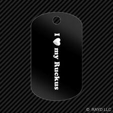 I Love my Ruckus Keychain GI dog tag engraved many colors Zoomer JDM