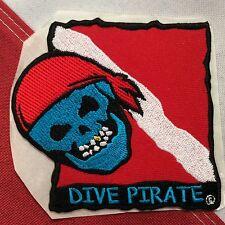 scuba patch diving equipment novelty gift snorkel jacket beach Dive Pirate 747
