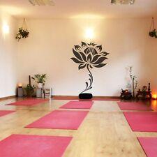 Large Lotus Flower Wall Sticker Stem Vinyl Living Room Home Removable Art Decor
