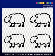 4 X PEGATINAS - STICKER - VINILO - Ikurriña - Oveja Vasca - Vinyl - Euskadi