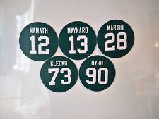New York Jets Magnets Retired Jerseys - Pick players - Round Jersey Design