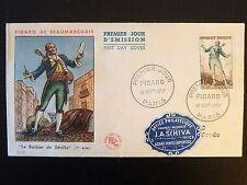 FRANCE PREMIER JOUR FDC YVERT 957  FIGARO DE BEAUMARCHAIS  12F  PARIS  1953