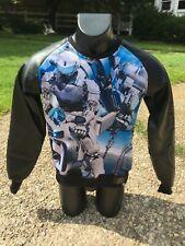New S&G Standard & Grind Robot Motorcycle Pullover Sweatshirt Black Blue Sg1315