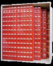ARMADIO  ESPOSITORE SCAFFALE PORTA  ATTREZZI  ART. V 457 STAND. CON 396 CASSETTI