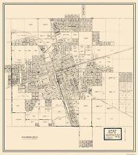 Old City Map - Hope Arkansas Landowner - Knobel 1916 - 23 x 25.75