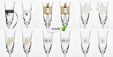2 Sektgläser Hochzeit Deko Champagnergläser Gläser Sekt Dekoriert wedding