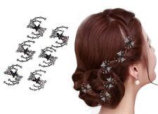 Set 6 Haarklemmen Schmetterling Haarklammer Haarclips Mini Haarkrebs Kommunion