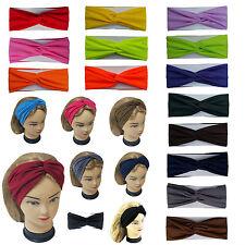 Twisted Hair Wrap Headband Stretchable Turban Yoga Hairband Fashion Solid Color