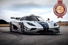 NEW KOENIGSEGG AGERA ONE 1 SPORTS SUPERCAR SUPER CAR PHOTO PRINT PREMIUM POSTER