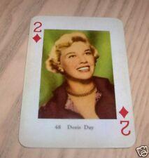VINTAGE DORIS DAY PLAYING CARD